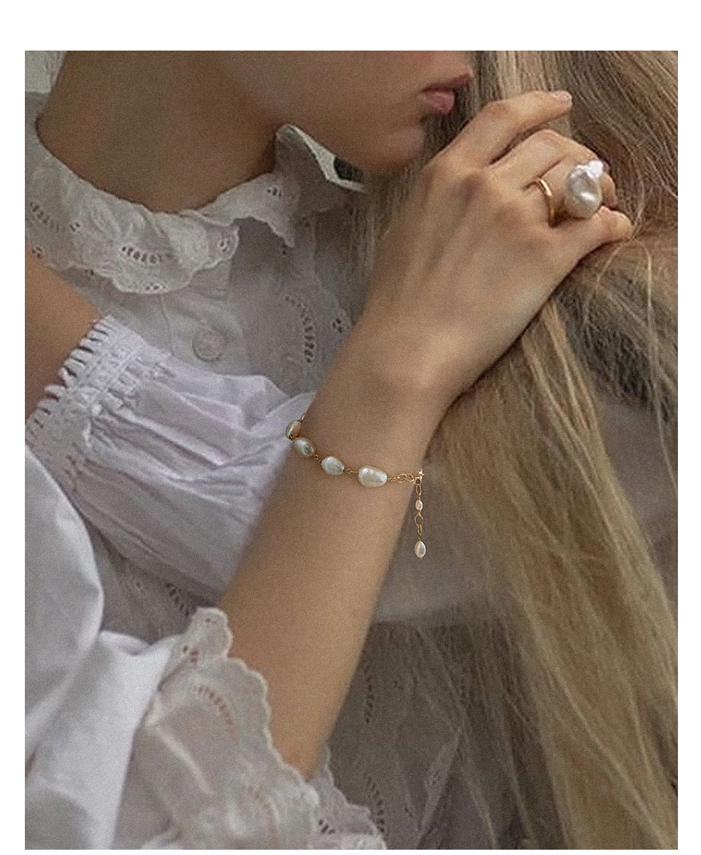 Baroque Natural Pearl Bracelet Handmade For Women Jewelry Gifts