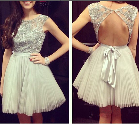 Light Grey Graduation Dresses